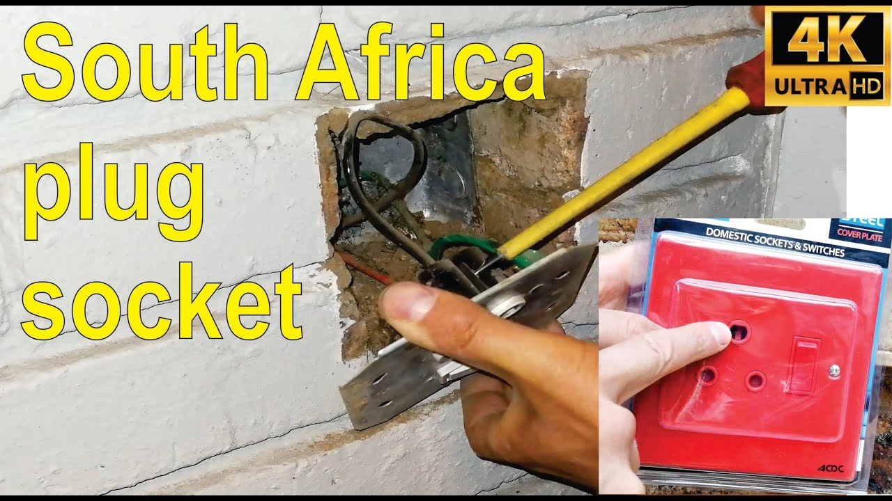 How To Install Replace A South African Plug Socket Step By Step Youtube