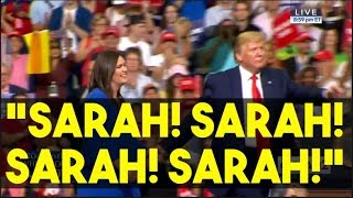 Trump Pauses His Reelection Rally To Honor Sarah Huckabee Sanders
