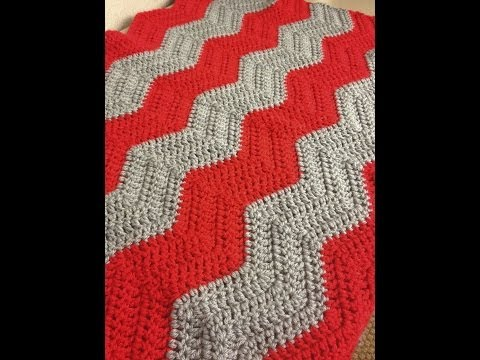 Youtube Crocheting Baby Blanket : How to Crochet a Chevron Baby Blanket - YouTube