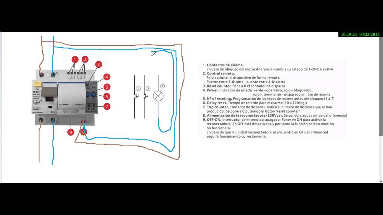 Interruptor diferencial con rearme automatico youtube for Diferencial rearme automatico
