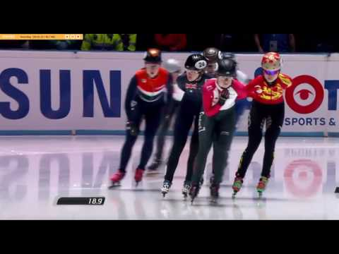 2016 17 Short Track World Championships , Rotterdam, Women 1500 Final B
