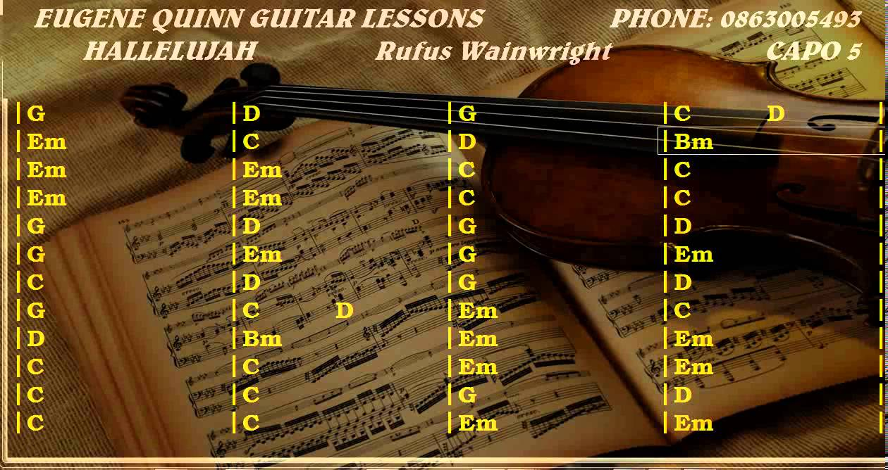Hallelujah Chords And Lyrics Guitar Lesson Youtube