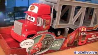 Talking MACK Truck Ramp Transporter Playset Disney Cars Dirt Track Lightning Mcqueen Blucollection