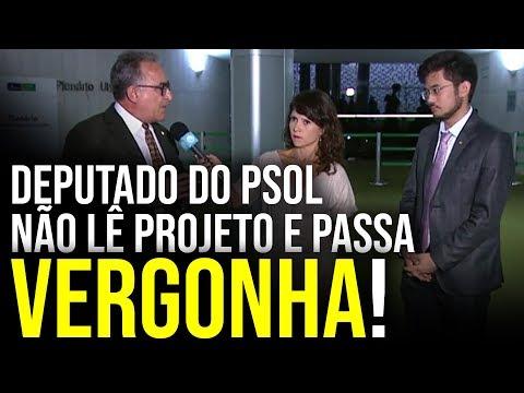 Deputado do PSOL não lê projeto e passa VERGONHA!