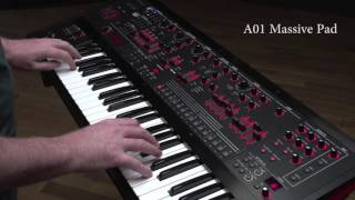 Roland JD-XA Synthesizer Ver.1.50 Preset Sound Examples: A01 Massive Pad
