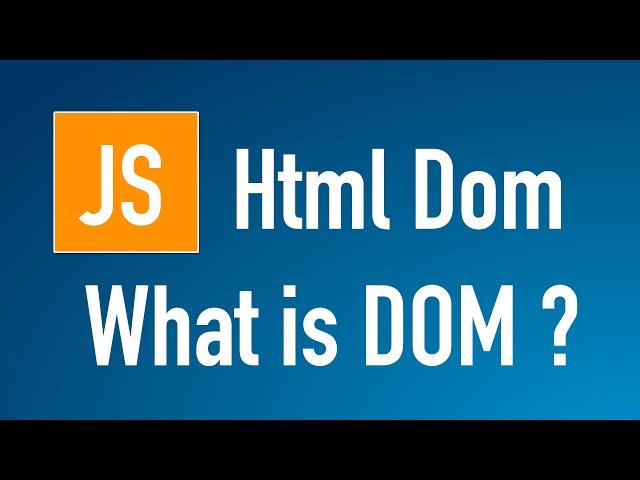 Learn Javascript HTML DOM
