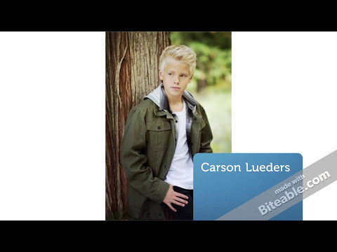 Carson Lueders | Celebrity Information