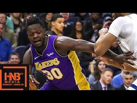 Los Angeles Lakers vs Minnesota Timberwolves 1st Half Highlights / Feb 15 / 2017-18 NBA Season