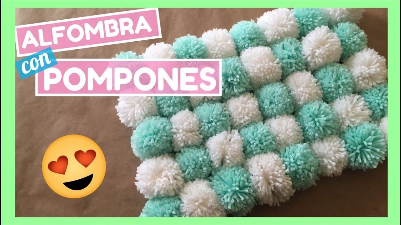 Alfombra con pompones s per f cil de hacer youtube for Fotos de alfombras