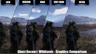 Ghost Recon® Wildlands - Graphics Comparison - Low/Med/High/VHigh/Ultra - 1440p 60fps