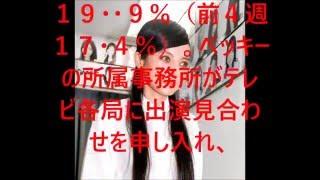 ベッキー出演「金スマ」大幅アップ17・9%…「見納めか?」で続々好視...