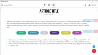 Site Style Changer - Mobirise v3.06