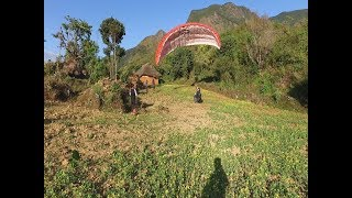 खरबारी मा खस्यो प्याराग्लाईडिंग    Paragliding Accident In Kurgha Gulmi