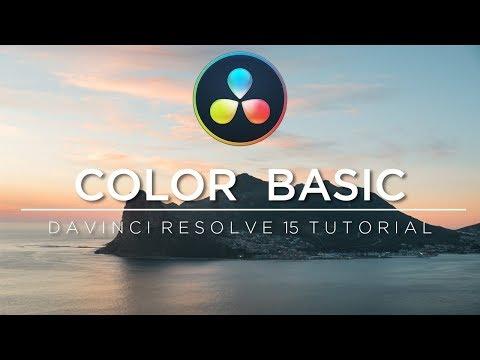DaVinci Resolve 15 Tutorial: Color Basic - Deutsch