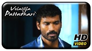 Velaiilla Pattadhari Tamil Movie - Dhanush argues with Samuthirakani