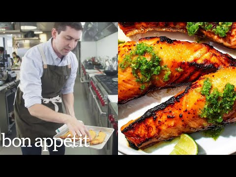 Bon Appetit Test Kitchen how to make kombu cured salmon | from the test kitchen | bon