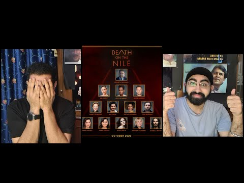 Death On The Nile Official Trailer reaction by Two filmy friends | 23rd October  |