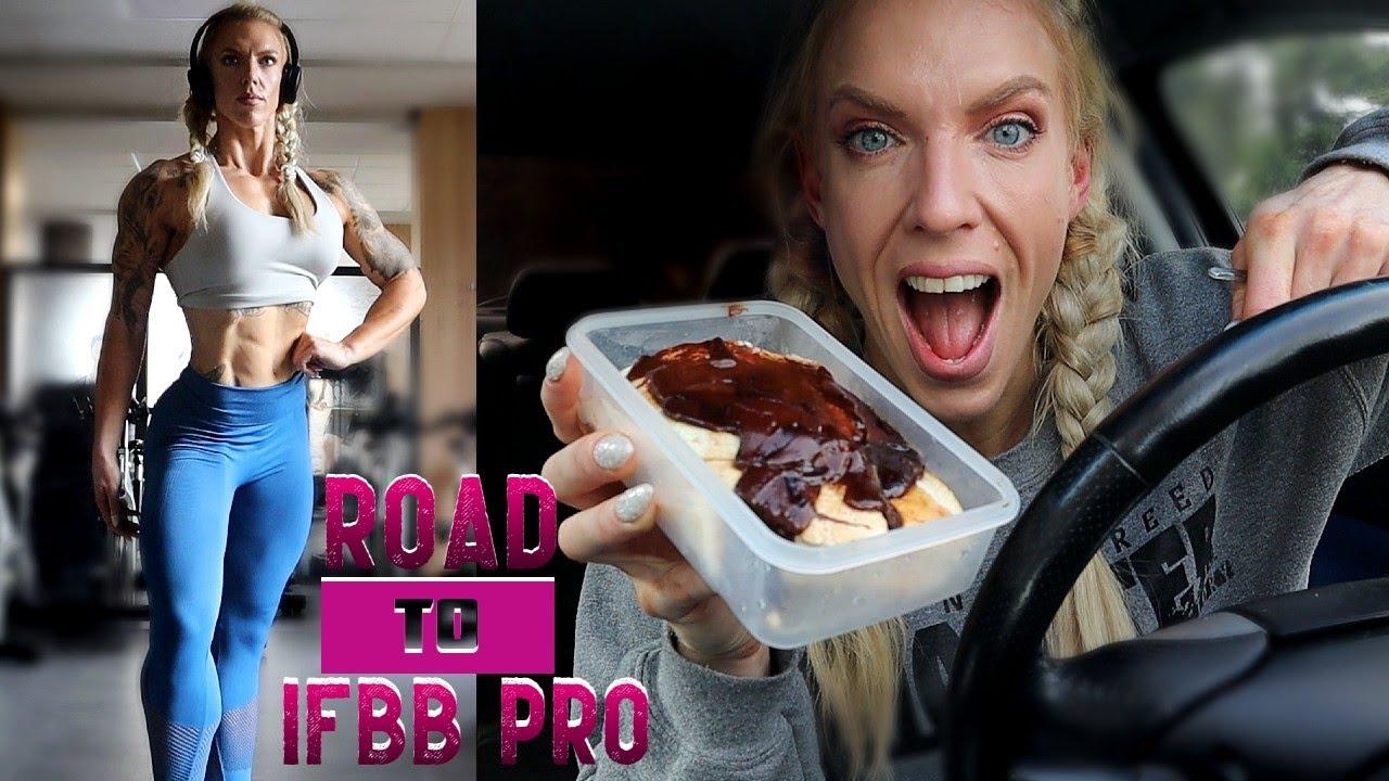 Road To IFBB Pro - Female BodyBuilder Full Day Of Eating