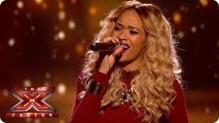 Tamera Foster sings I have nothing by Whitney - Live Week 4 - The X Factor 2013
