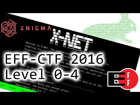 Live Hacking - EFF-CTF 2016 - Level 0-4 (Enigma Conference)