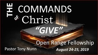 Commands of Christ, Part 5: Give