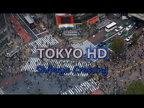 Tokyo Shibuya Crossing Shopping Street Video Stock Footage Japan Car Traffic Jam Busy People Crowd