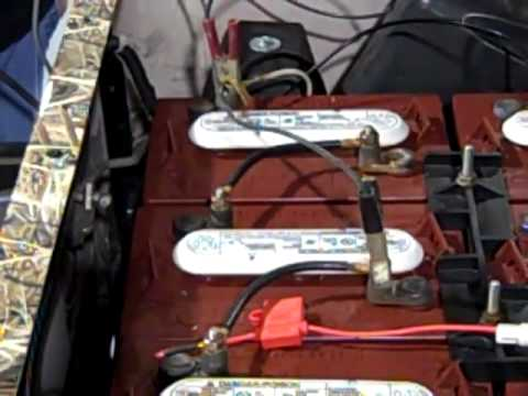 Charging Dead Golf Cart Batteries - YouTube