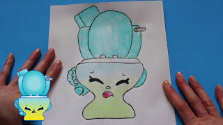 How to Draw Shopkins Season 4 Flushes   Toy Caboodle