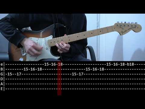 Queen - Bohemian Rhapsody solo (Guitar lesson with TAB)