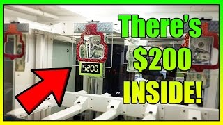 There's $200 Real Money Inside Key Master Arcade Game! ArcadeJackpotPro