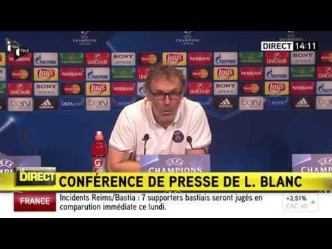 """Laurent Blanc a """"très mal pris"""" les propos de Serge Aurier"""