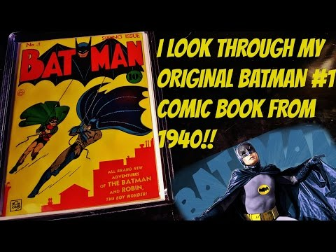 LET'S LOOK INSIDE BATMAN #1 FROM 1940 ORIGINAL COMIC BOOK