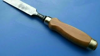 Как сделать ручку для стамески. Часть 2/2. How to make a chisel handle.