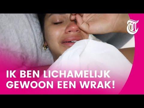 Monica Geuze in tranen om pasgeboren baby