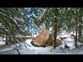Solo Winter Bushcraft Camp 4 Days Off The Grid Full Documentary mp3