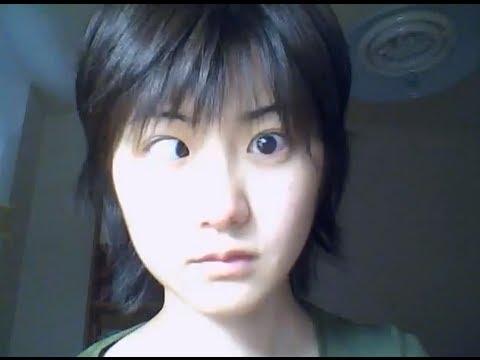 Cute Japanese Girl Eyeball Trick