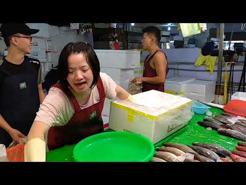 Taiwan-Amazing seafood auction -Yong'an Fishing Port PART2