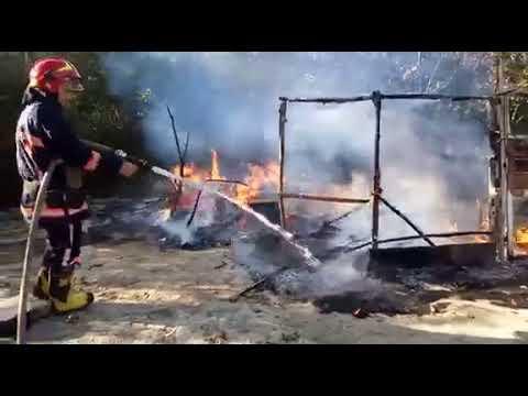 Пожежа у ромському таборі в Івано-Франківську
