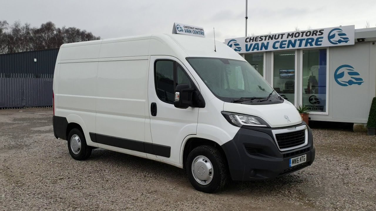 Peugeot Boxer 335 L2H2 Professional Van For Sale  In White 2.2 Diesel Air Con Sat Nav Cruise Control
