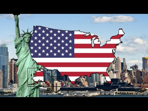 Flag Map - United States of America