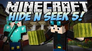Minecraft | HIDE N SEEK 5! (The MELON BLOCK Challenge!) | Minigame