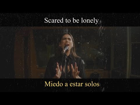 Martin Garrix & Dua Lipa  Scared To Be Lonely Acoustic LYRIC   Traducido a Español