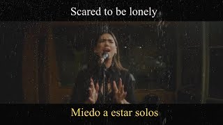 Gambar cover Martin Garrix & Dua Lipa - Scared To Be Lonely (Acoustic) LYRIC VIDEO - Traducido a Español