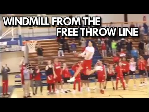 WINDMILL DUNK from the FREE THROW LINE by HIGH SCHOOLER JAXSON HAYES!