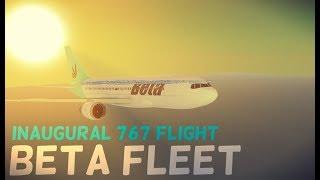 ROBLOX Beta fleet 767 Inaugural Flight First class!
