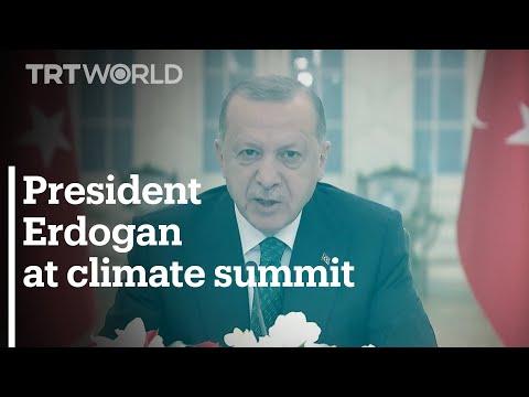 Turkey's President Erdogan speaks at virtual climate summit hosted by US