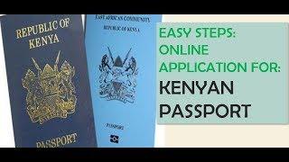 Online E-passport application pro¢ess E-Citizen Kenya | Step by step