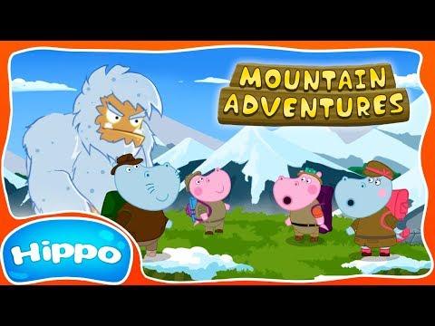 Hippo 🌼 Hiking In The Mountains 🌼 Bigfoot Mountain Peak 🌼 Cartoon Game Review