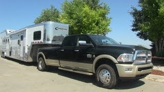 2013 Ram 3500 Laramie Longhorn Pickup & Horse Trailer Revealed