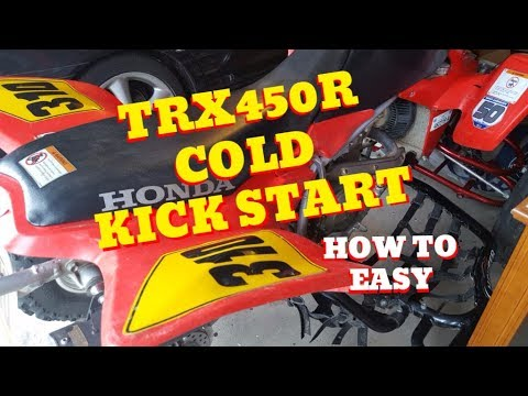 How to cold KICK start a Honda TRX450R easy, plus, storage tips!!